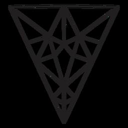 Cristal de triángulo invertido dibujado