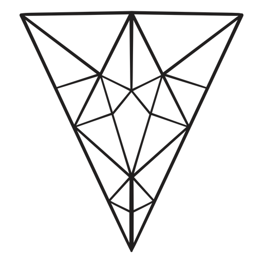 Inverted triangle crystal drawn