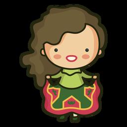Irish character cute dress woman