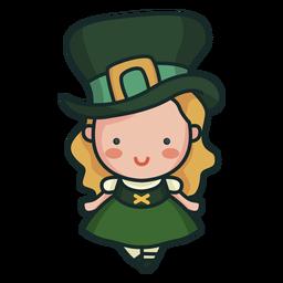 Carácter irlandés linda chica linda