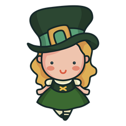 Personaje irlandés linda chica linda