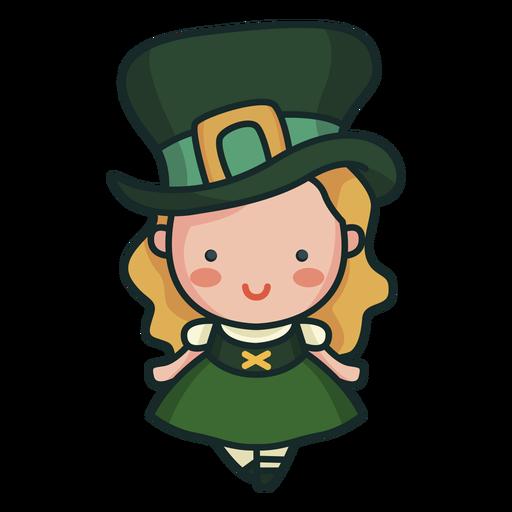 Irish character cute girl cute