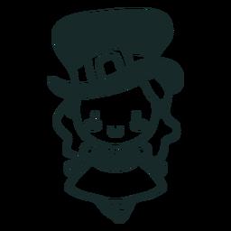 Carácter irlandés linda chica de trazo
