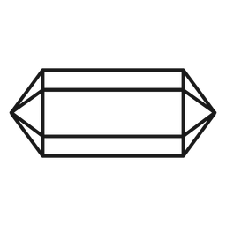 Long crystal prism stroke icon