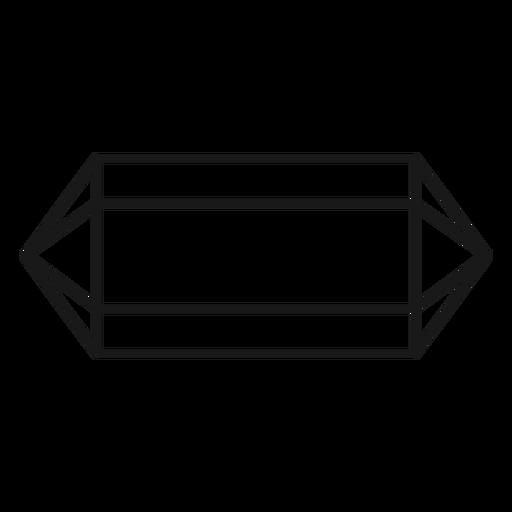 Ícone de curso de prisma de cristal longo