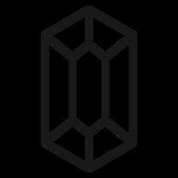 Long crystal stroke icon