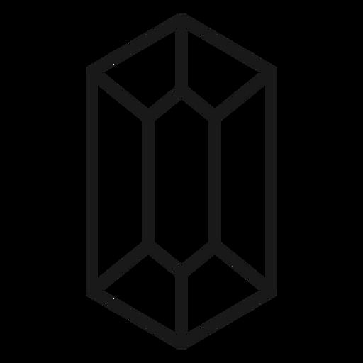 Ícone de traço longo de cristal