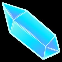 Cristal de prisma azul bonito longo