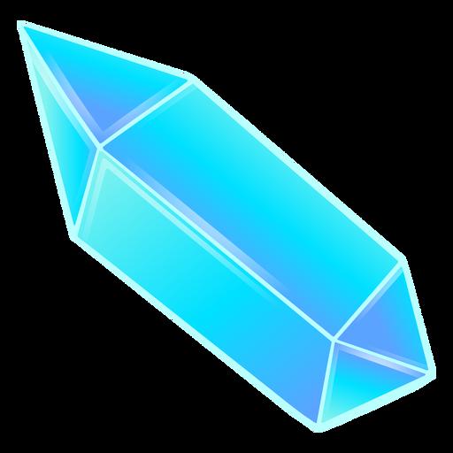 Long pretty blue prism crystal Transparent PNG