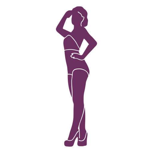 Look out pinup silhouette