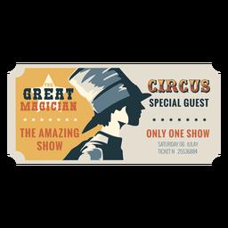 Bilhete de circo mágico