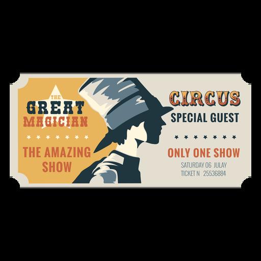Boleto de circo mágico Transparent PNG