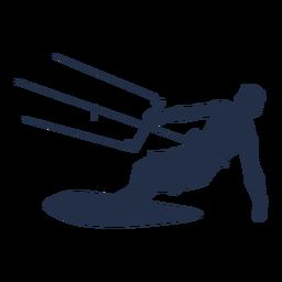 Silhueta de surfista de pipa de homem