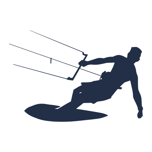 Man kite surfer silhouette Transparent PNG