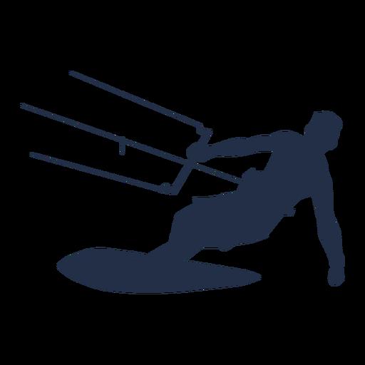 Silueta de hombre cometa surfista Transparent PNG
