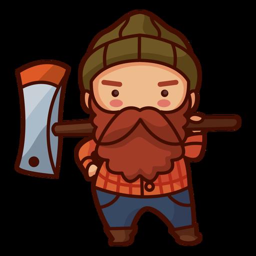 Man with axe canada
