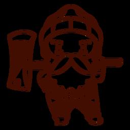 Man with axe canada stroke