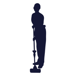 Mopping cleaner silhouette