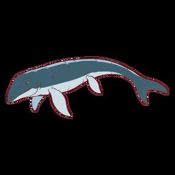 Ilustración de lagarto Mosasaur