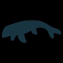 Mosasaur lizard silhouette
