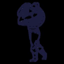 Chico musculoso circo
