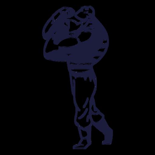Circo de cara musculoso