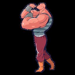 Chico musculoso circo colorido