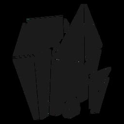 Bonitas formas de cristal simples