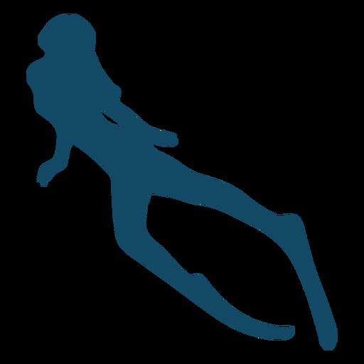 Nice underwater girl silhouette