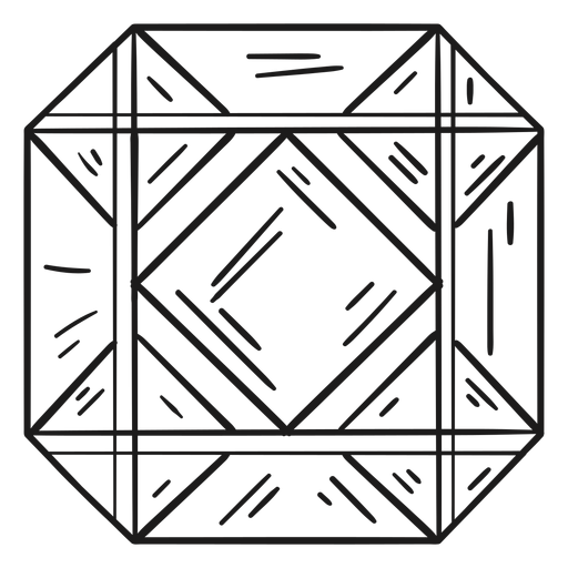 Octagon shape crystal