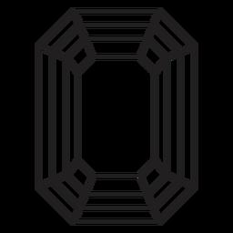 Octágono forma cristal simple