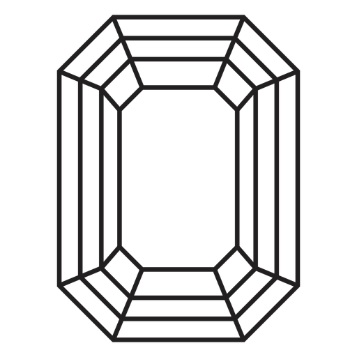 Octagon shape simple crystal Transparent PNG