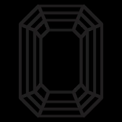Octagon shape simple crystal