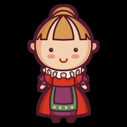 Old era english character cute character cute