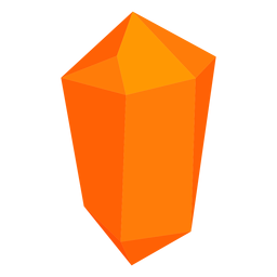 Cristal de bloco laranja