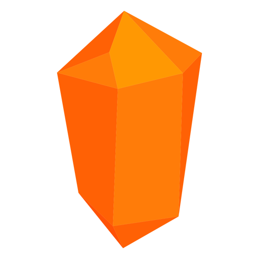 Orange block crystal Transparent PNG