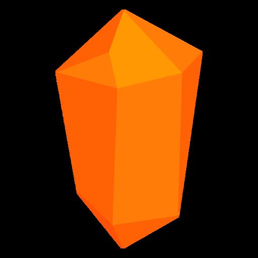 Orange block crystal Transparent PNG
