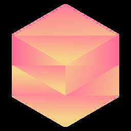 Cristal hexagonal naranja