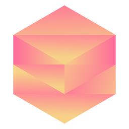 Orange hexagon crystal