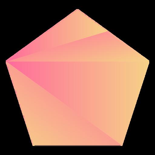 Orange pentagon crystal Transparent PNG