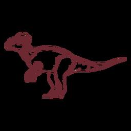 Dinossauro paquicefalossauro desenhado