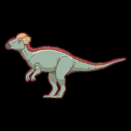 Ilustração do dinossauro paquicefalossauro