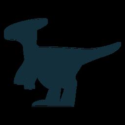 Parasaurolophus dino silueta