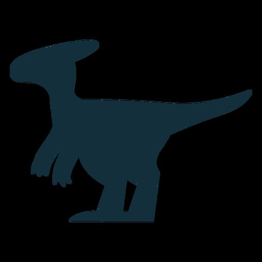 Parasaurolophus dino silhouette