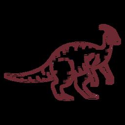Dinosaurio Parasaurolophus dibujado