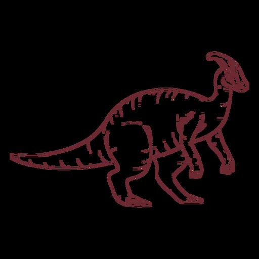 Parasaurolophus dinosaur drawn