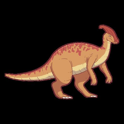 Ilustração do dinossauro Parasaurolophus