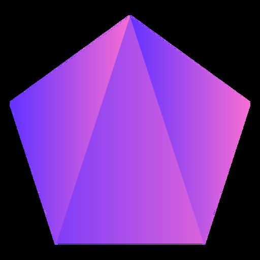 Pentagon purple crystal