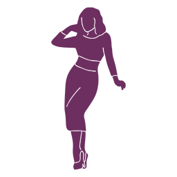 Pinup dress silhouette