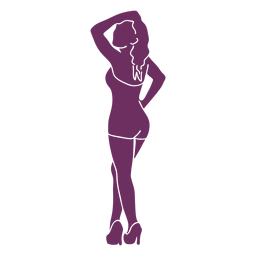 Pinup model pose silhouette